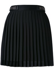 Versus Logo Mini Skirt Women Polyester 44 Black