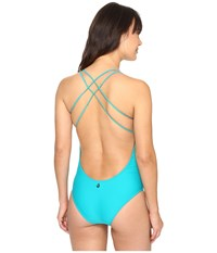 Volcom Simply Solid One Piece Teal Women's Swimsuits One Piece Blue