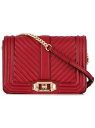 Rebecca Minkoff Quilted Crossbody Bag Red