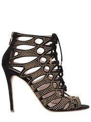 Elie Saab 110Mm Studs And Suede Cage Sandals