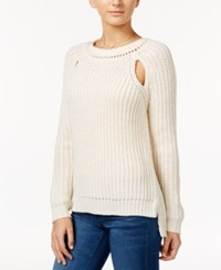 American Rag High Low Cutout Sweater Only At Macy's Cream
