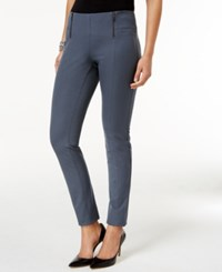 Alfani Petite Zip Trim Skinny Pants Only At Macy's Stadium Grey