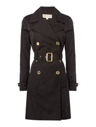 Michael Kors Pleated Trench Jacket Black