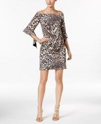 Thalia Sodi Off The Shoulder Sheath Dress Only At Macy's Taupe Combo
