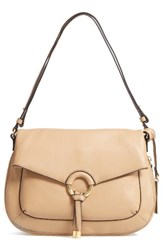 Vince Camuto Adina Leather Shoulder Crossbody Bag Beige Tumbleweed