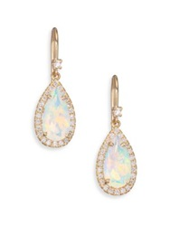 Suzanne Kalan Soleil Opal Diamond And 14K Yellow Gold Pear Drop Earrings