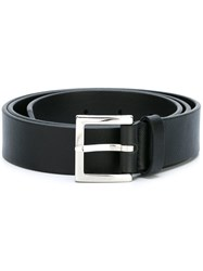 Orciani Embossed Cut Edge Belt Black