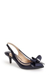 J. Renee Women's 'Garbi' Pointy Toe Bow Pump Navy Navy