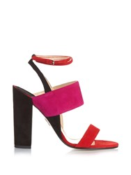 Paul Andrew Colour Block Suede Sandals