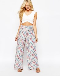 Oasis Paisley Wide Leg Trousers Multi