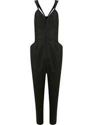 Andrea Marques Fitted Waist Corset Jumpsuit Black