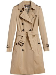Burberry The Chelsea Long Trench Coat Nude And Neutrals
