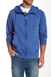 Dkny Jeans Burnout French Terry Zip Hoodie Blue