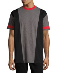 Givenchy Colorblock T Shirt With Star Print Gray