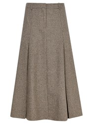 Viyella Pleat Riding Skirt Chocolate