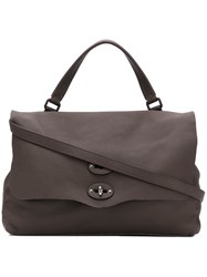 Zanellato Postina Cachemire Pura Shoulder Bag Brown