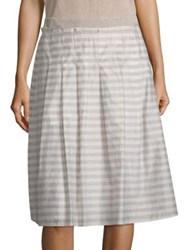 Peserico A Line Stripe Skirt Taupe