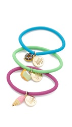 Venessa Arizaga Just Desserts Hair Tie Set Pastel Multi