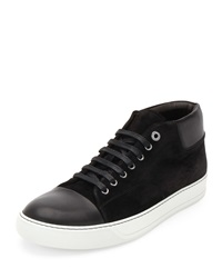 Lanvin Captoe High Top Sneaker Black