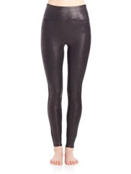 Spanx Cropped Faux Leather Leggings Black