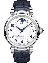 Iwc Iw459306 Da Vinci Stainless Steel And Leather Watch