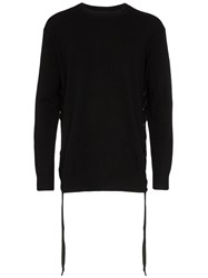 Faith Connexion Lace Up Side Sweater Black