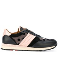 Bally Asyia Sneakers Women Calf Leather Patent Leather Suede Rubber 38.5 Black