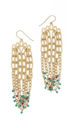 Aurelie Bidermann Tribal Chain Earrings Gold