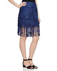 Romeo And Juliet Couture Tiered Fringe Skirt Compare At 208 Navy