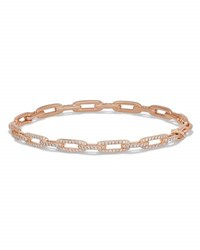 David Yurman Stax Chain Link Bracelet In 18K Rose Gold W Diamonds