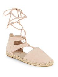 Kenneth Cole Beverly Lace Up Espadrille Flats Rose