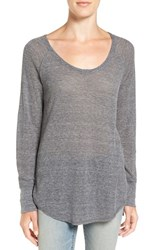 Treasure And Bond Women's Slouchy Thermal Tee Grey Multi