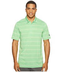 Puma Pounce Stripe Polo Cresting Andean Toucan Men's Short Sleeve Knit Green