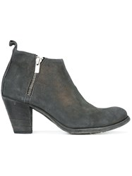 Officine Creative Zipped Ankle Boots Grey
