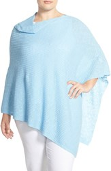 Plus Size Women's Eileen Fisher Organic Linen And Cotton Knit Poncho