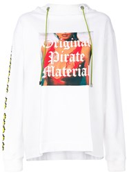 House Of Holland Original Pirate Material Hoodie White