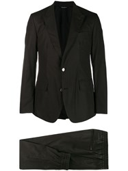 Dolce And Gabbana Poplin Two Piece Suit Black