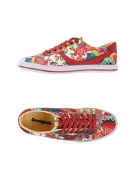 Desigual Low Tops And Trainers Maroon