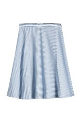 Closed Striped Skirt With Cotton And Linen