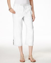 Jm Collection Embellished Pull On Capri Pants Only At Macy's Bright White
