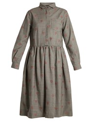 Shrimps Gerald Shrimp Jacquard Wool Blend Dress Grey
