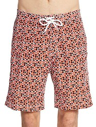 Saks Fifth Avenue Printed Board Shorts Red