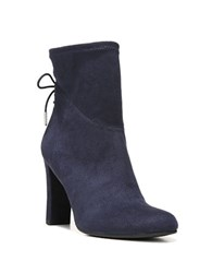 Sam Edelman Janet Microsuede Ankle Boots Navy Blue