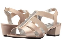 David Tate Eve Champagne Satin Women's Dress Sandals Bone