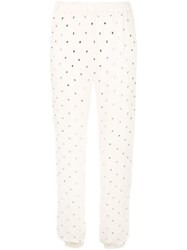 Haney Colette Embellished Trousers Neutrals