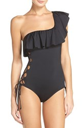 Laundry By Shelli Segal Women's One Shoulder One Piece Swimsuit