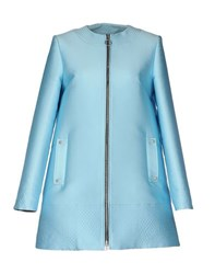 Fausto Puglisi Coats And Jackets Coats Women Sky Blue