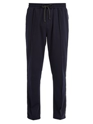 The Upside Racer Tapered Leg Jersey Track Pants Navy