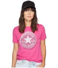 Converse Microdot Chuck Patch Classic Crew Tee Magenta Glow Pink Women's T Shirt