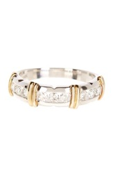 Allora Diamonds Sterling Silver And 14K Yellow Gold Diamond Anniversary Ring Band 0.50 Ctw Metallic
